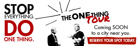 The One Thing Book Tour Gary Keller